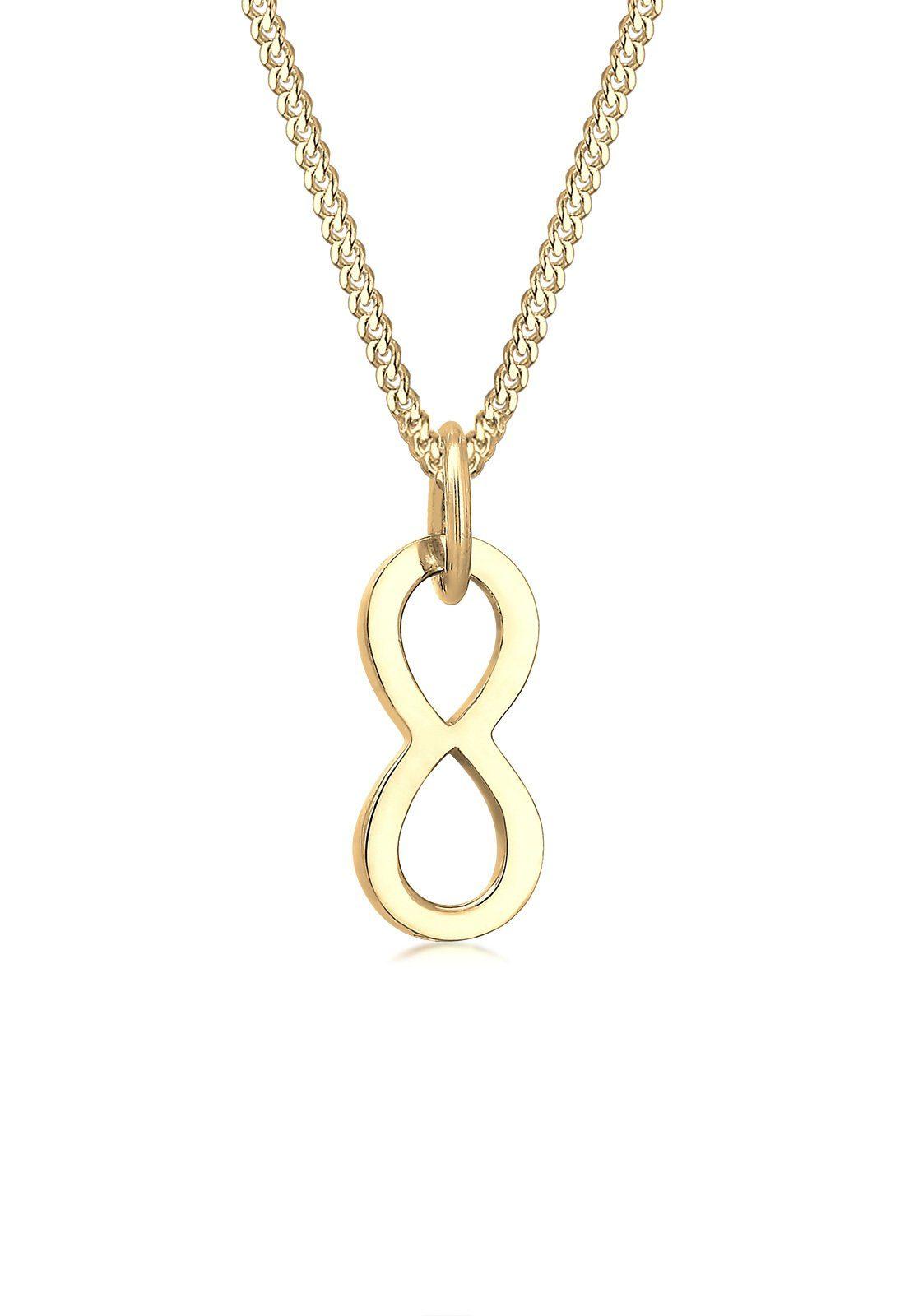 Elli Collierkettchen »Infinity Unendlichkeit Symbol 585 Gelbgold«
