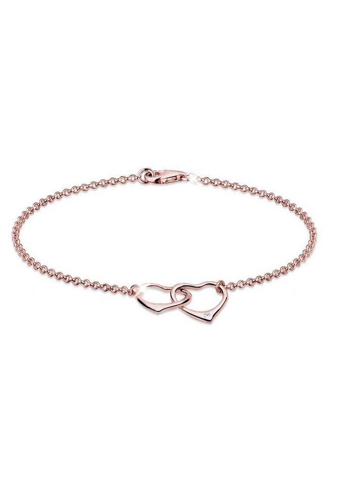 6591037a3fbc Diamore Armband »Herz Anhänger Liebe Diamant (0.02 ct) 925 Silber ...