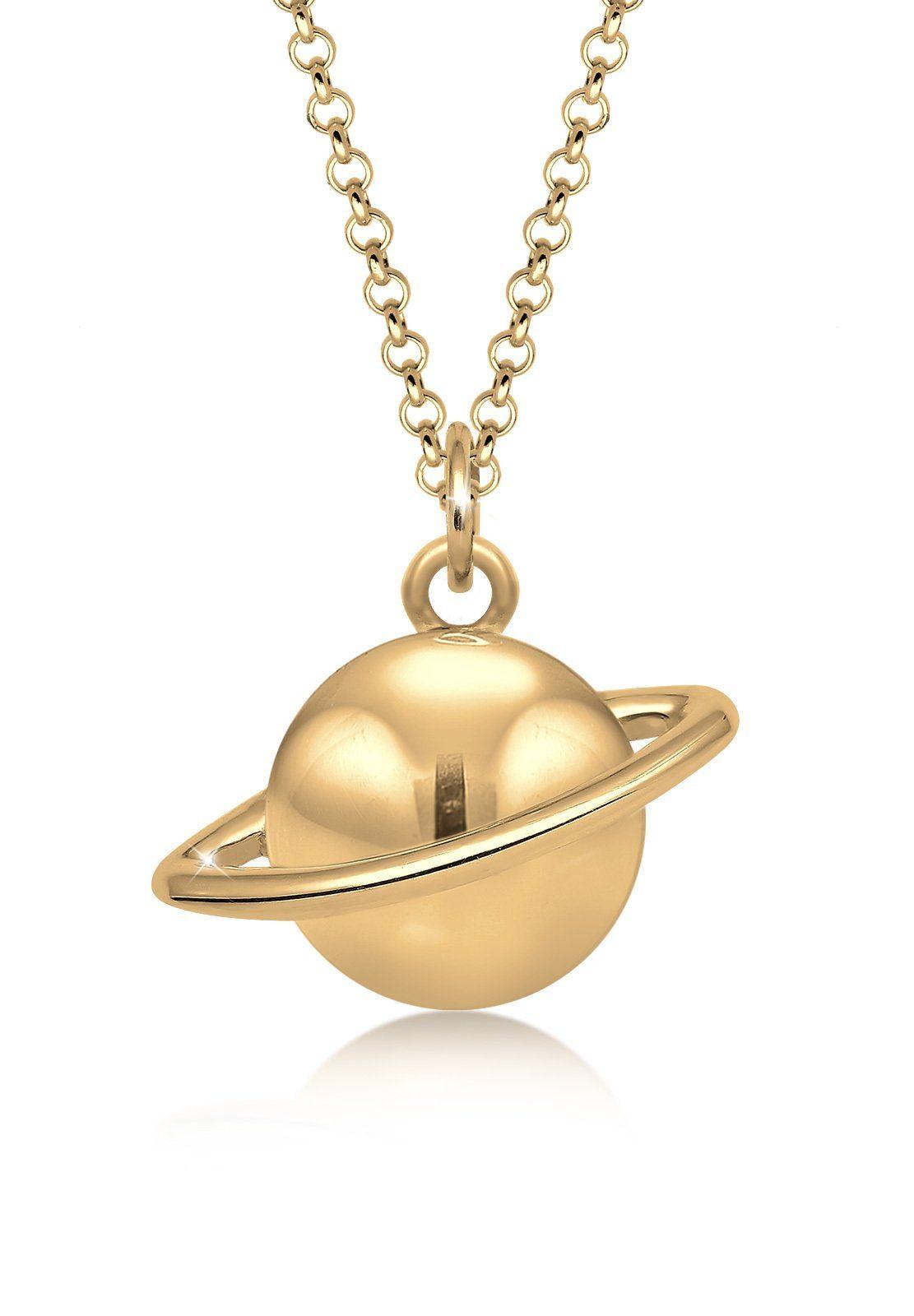 Elli Collierkettchen »Astro Planet Saturn Universum 925 Sterling Silber«