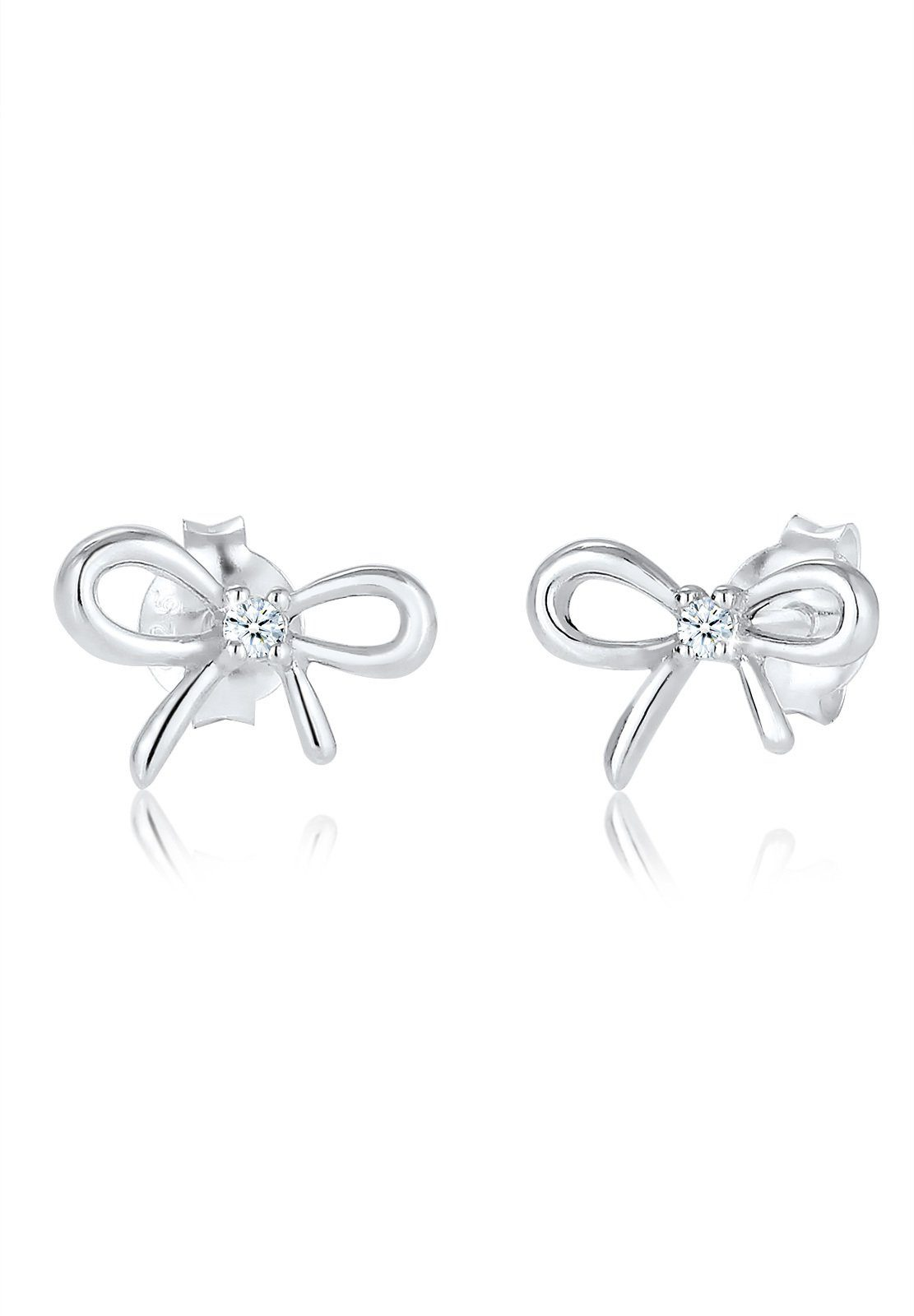 Diamore Paar Ohrstecker »Schleife Bow Diamant (0.04 ct) 925 Sterling Silber«