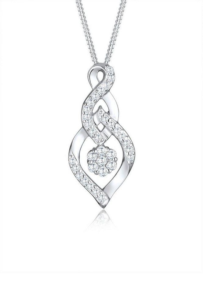 c744ab36e751 Elli Collierkettchen »Infinity Zirkonia Geschenkidee 925 Silber« online  kaufen   OTTO
