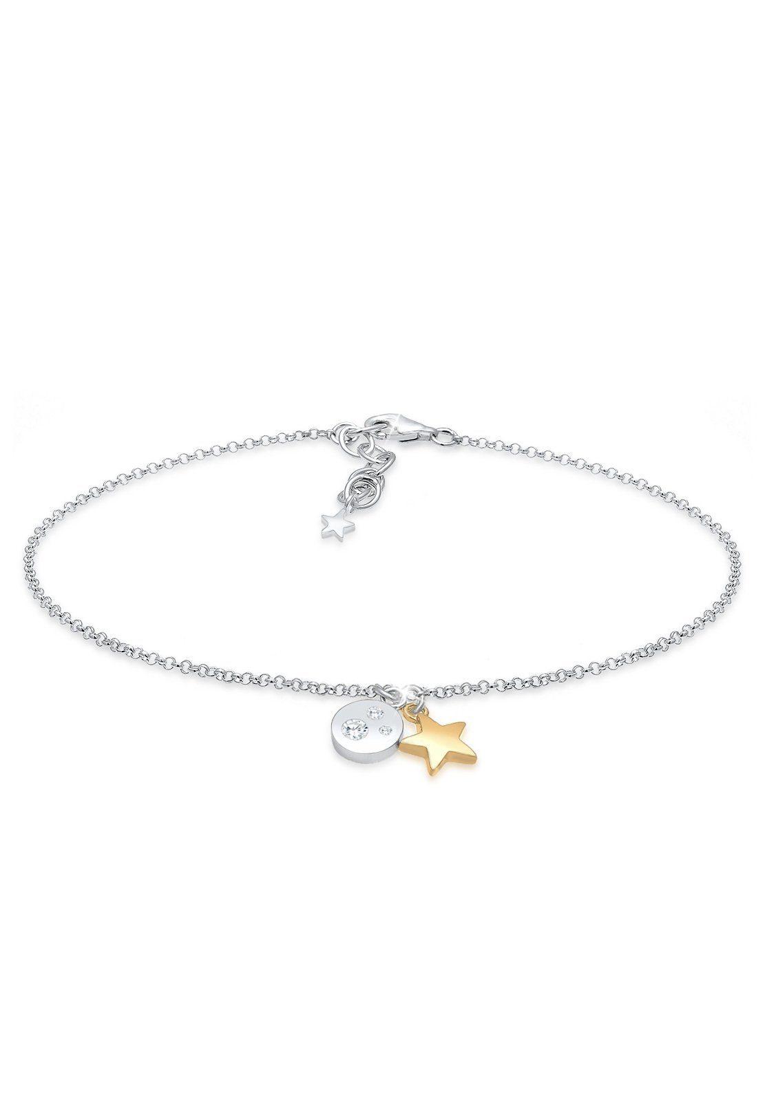 Elli Armband »Sterne Astro Bi Color Zirkonia 925 Sterling Silber«
