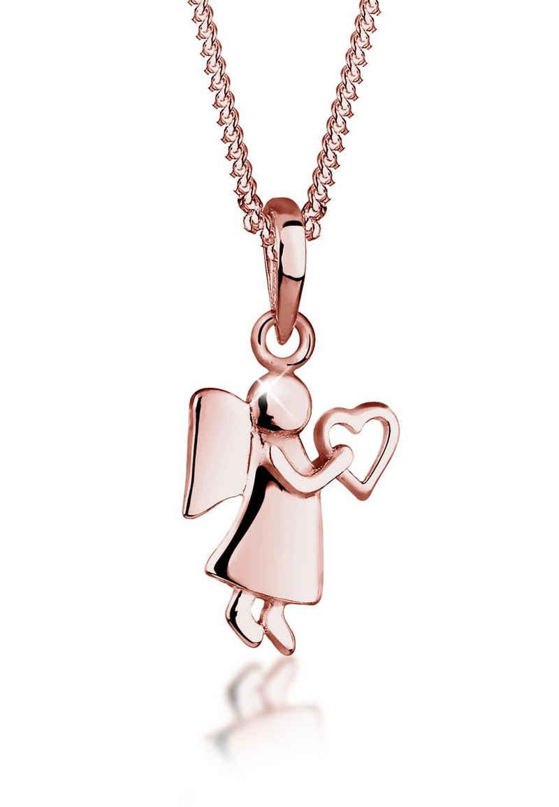 Elli Kette mit Anhänger »Engel Herz Glücksbringer Symbol 925 Silber«