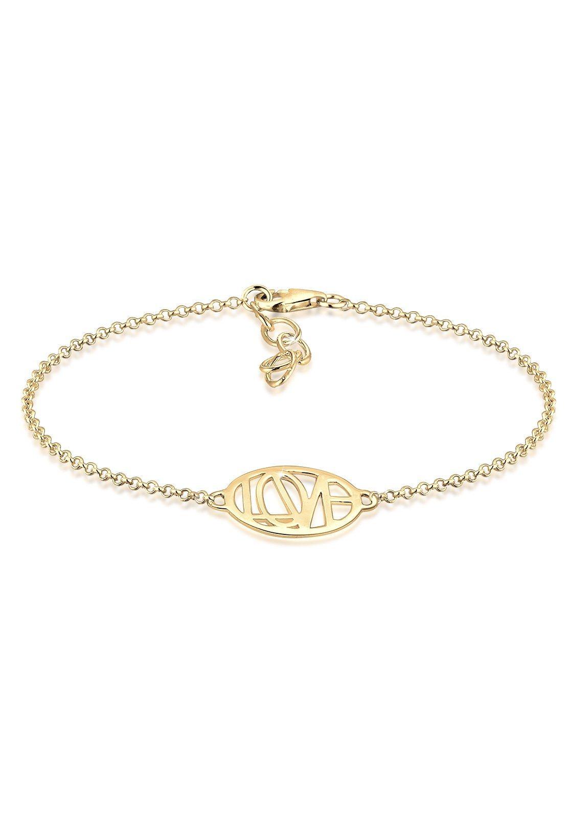 Elli Armband »Wordings Love-Schriftzug Liebe 925 Sterling Silber«   Schmuck > Armbänder > Silberarmbänder   Silber   Elli
