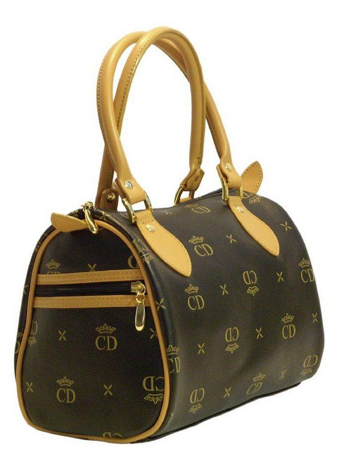 Handtasche, CD Noble Elegance in schwarz-camel