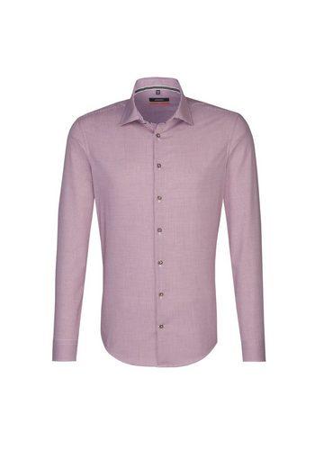 Herren seidensticker Trachtenhemd Slim Kent-Kragen rot | 04048869380877