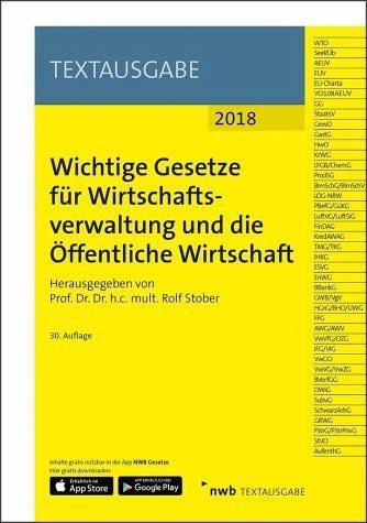 Broschiertes Buch »Wichtige Gesetze für Wirtschaftsverwaltung und...«