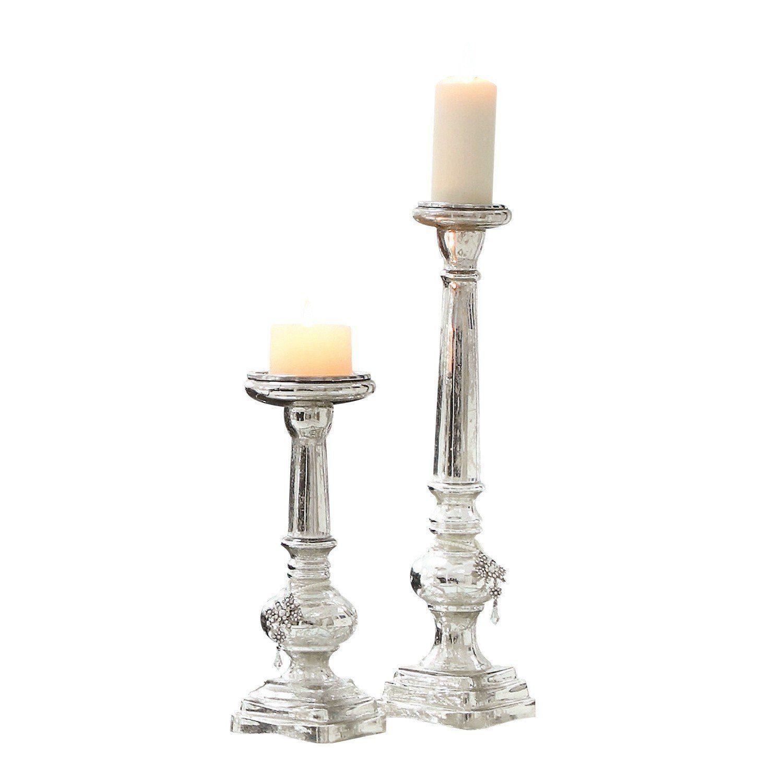 Loberon Kerzenständer 2er Set »Charlene«