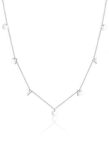Elli Collierkettchen »Dreieck Viereck Kreis Geo Erbskette 925 Silber«