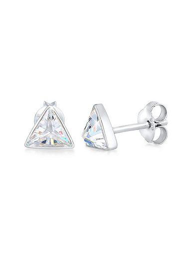 Elli Paar Ohrstecker »Stecker Dreieck Triangle Geo Zirkonia 925 Silber«