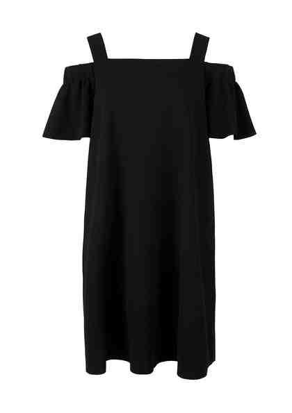 TRIANGLE Off Shoulder-Kleid mit Volant