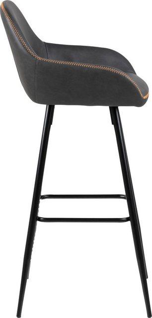 Barmöbel - andas Barhocker »Carla«, 2er Set, mit schönem schwarzen Metallgestell, mit Kunstleder Bezug, Sitzhöhe 76,5 cm  - Onlineshop OTTO