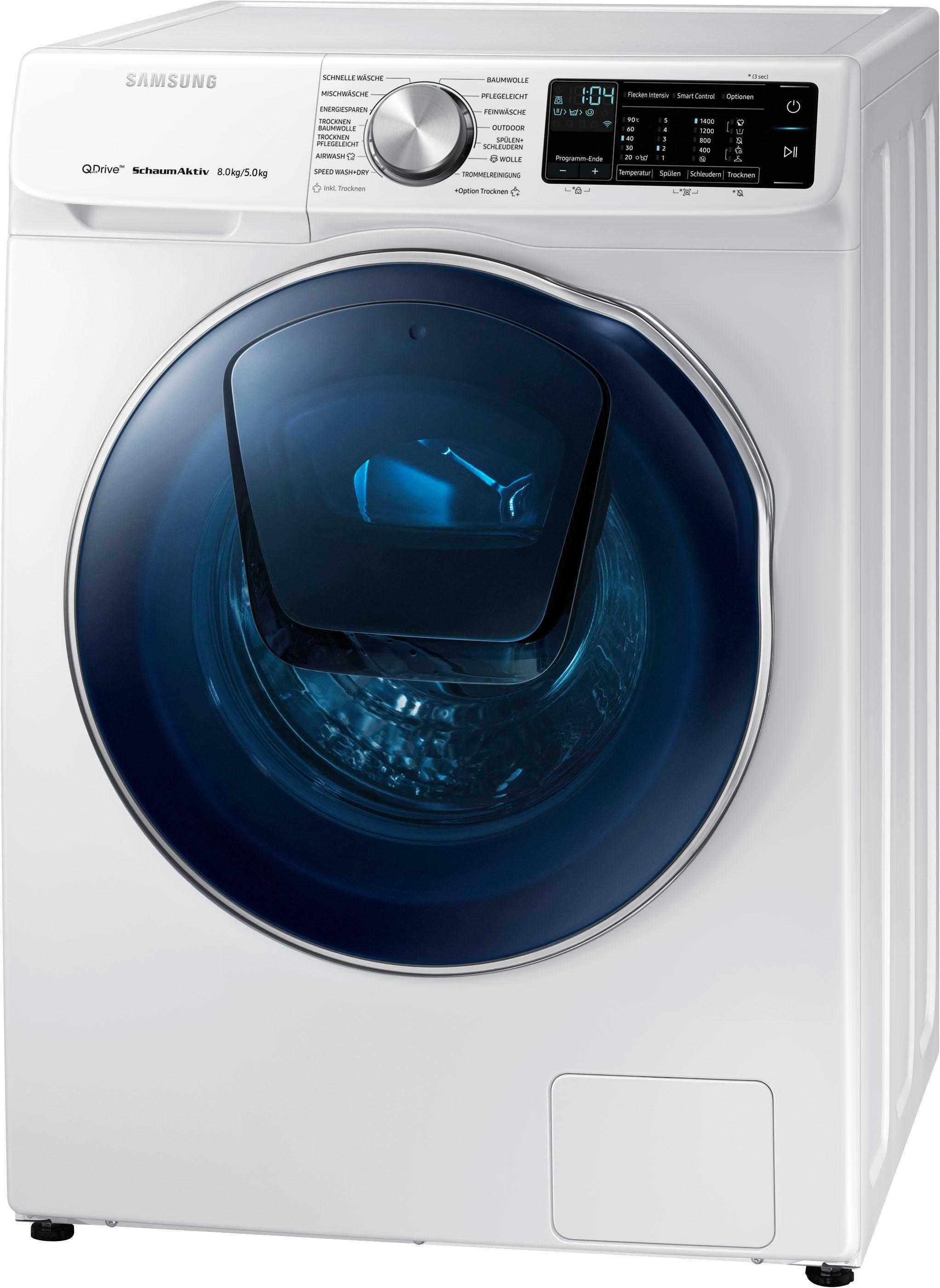 Samsung Waschtrockner WD6800 QuickDrive WD81N642OOW/EG, 8 kg/5 kg, 1400 U/Min, AddWash