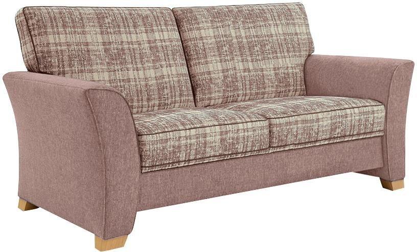 frommholz 2 5 sitzer sofa bari mit kederverzierung sitzfl che im karostoff breite 185 cm. Black Bedroom Furniture Sets. Home Design Ideas