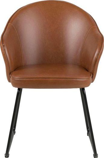 andas Esszimmerstuhl »Minna« in zwei verschiedenen Bezugsqualitäten  mit schwarzem schönem Metallgestell  Sitzhöhe 47 cm