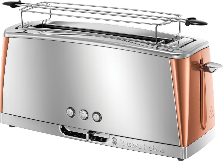 RUSSELL HOBBS Toaster Luna Copper Accents 24310-56, 1 langer Schlitz, für 2 Scheiben, 1420 W