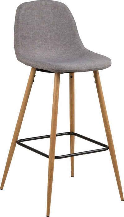 andas Barhocker »Willy« (Set, 2 St), Gestell aus Metall, Sitzpolsterung aus pflegeleichten Kunstleder, oder Webstoff, Sitzhöhe 73 cm