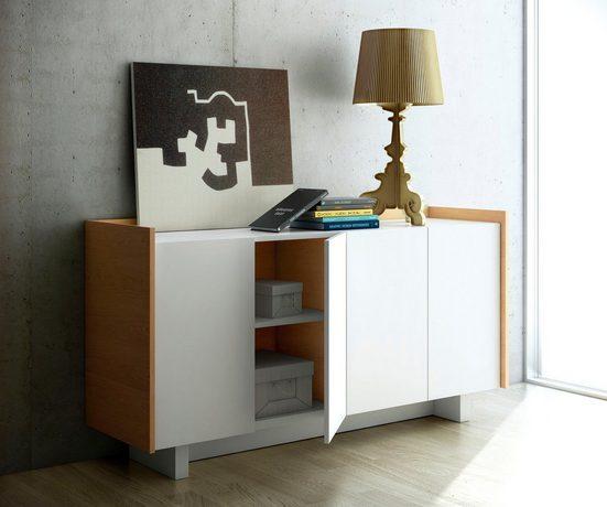 TemaHome Sideboard »Skin«, im moderner Holzoptik und schönem Design, Breite 161 cm