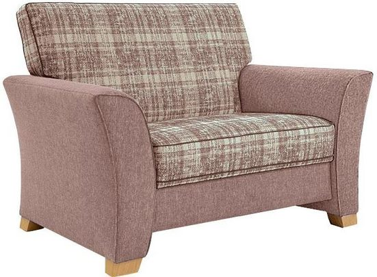 FROMMHOLZ® Sessel »Bari«, mit Kederverzierung, Sitzfläche im Karostoff