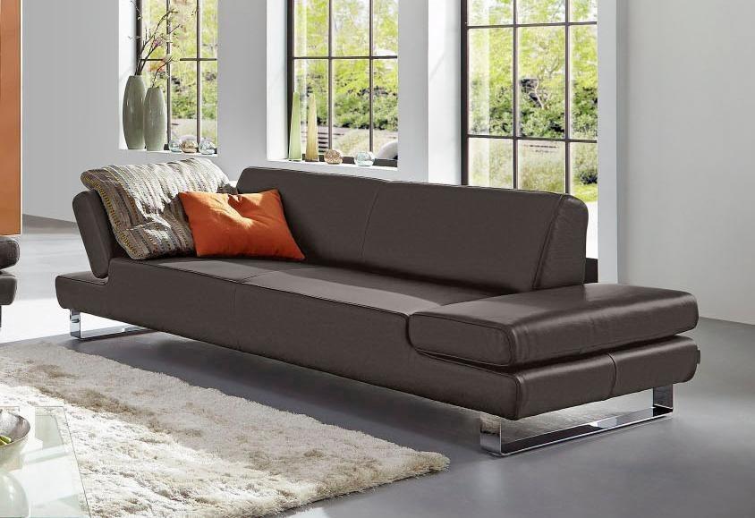 Polstermöbel leder schillig  W.SCHILLIG 3-Sitzer Sofa »taboo« mit Übertiefe, inklusive ...