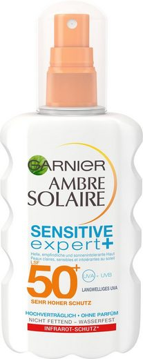 GARNIER Sonnenschutzspray »Ambre Solaire Sensitiv Expert LSF 50+«