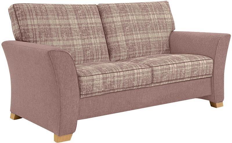 frommholz 2 sitzer sofa bari mit kederverzierung sitzfl che im karostoff breite 165 cm. Black Bedroom Furniture Sets. Home Design Ideas