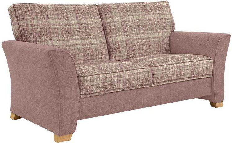FROMMHOLZ® 2-Sitzer »Bari«, mit Kederverzierung, Sitzfläche im Karostoff, Breite 165 cm