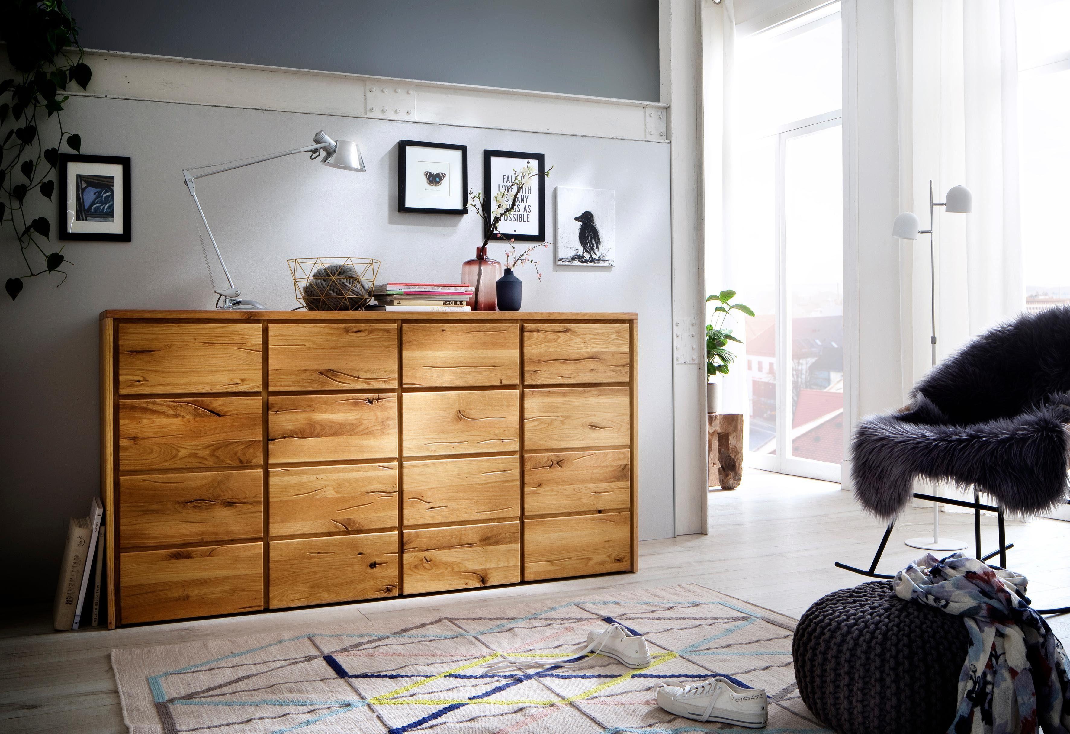 Home affaire Kommode »Zetra« aus Massivholz, alle Schubladen mit Soft-Close-Funktion, Breite 172 cm