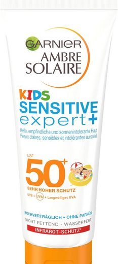 GARNIER Sonnenschutzcreme »Ambre Solaire Kids Sensitive Expert LSF 50+«