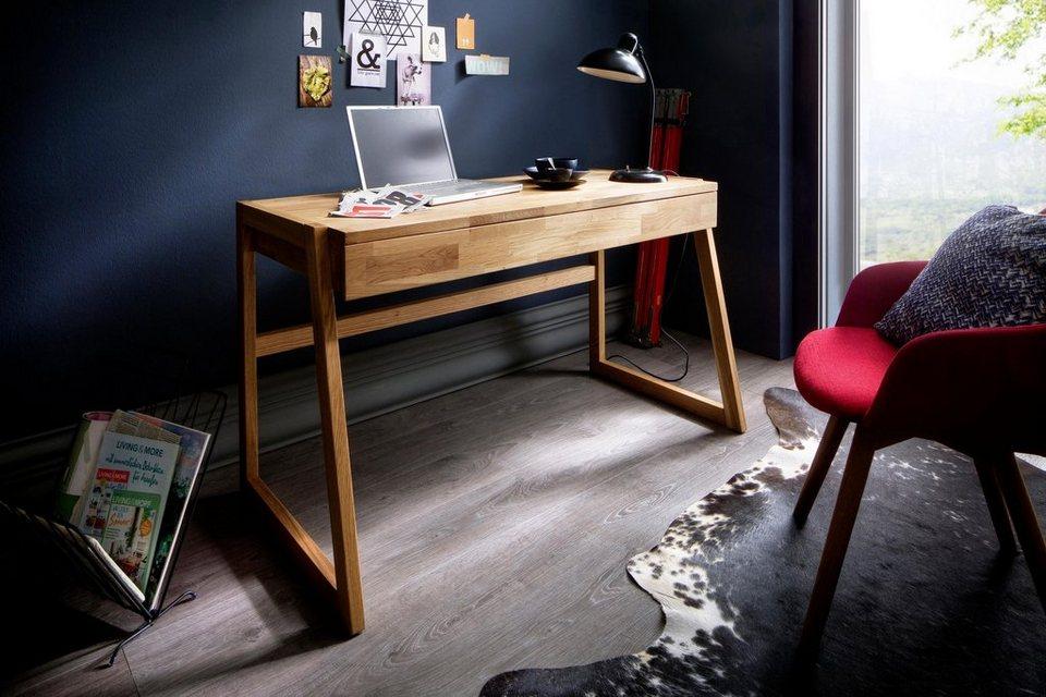Home Affaire Schreibtisch »Dura« Aus Massivholz, Mit Soft