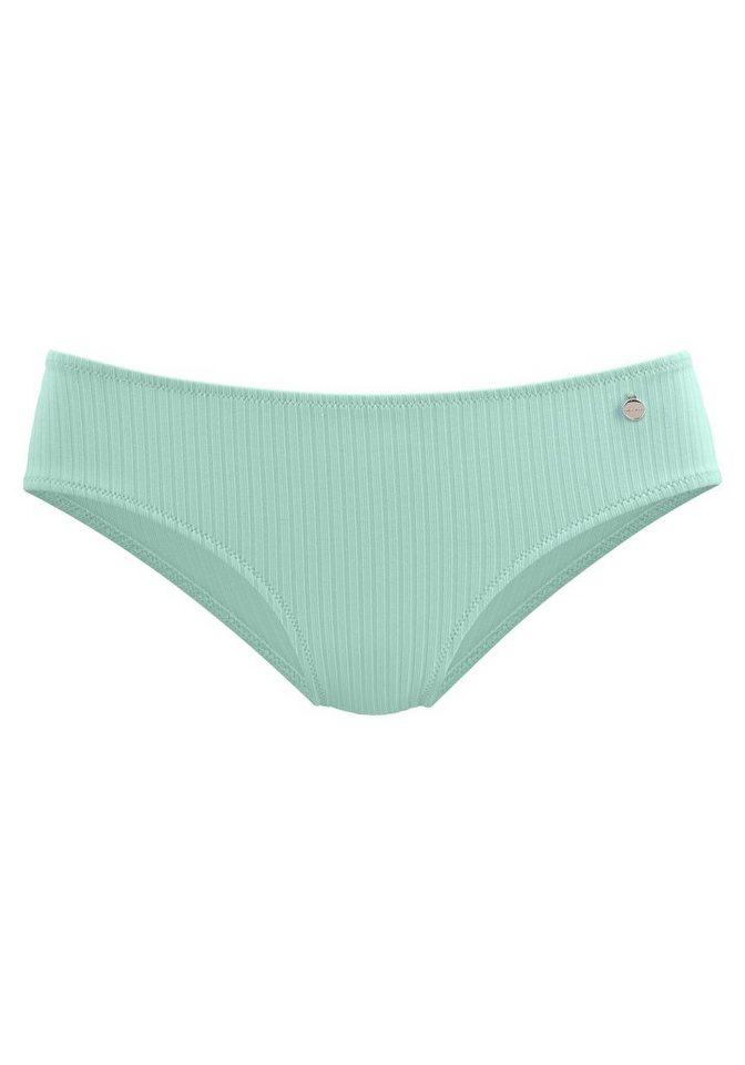 Bademode - LASCANA Bikini Hose »Rippe«, in Unifarben › grün  - Onlineshop OTTO