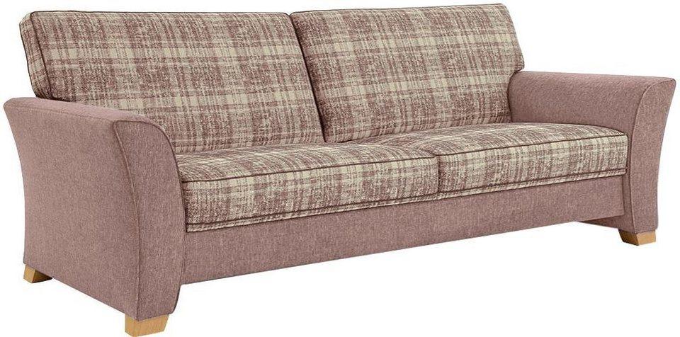 frommholz 2 5 sitzer sofa bari mit kederverzierung sitzfl che im karostoff breite 225 cm. Black Bedroom Furniture Sets. Home Design Ideas