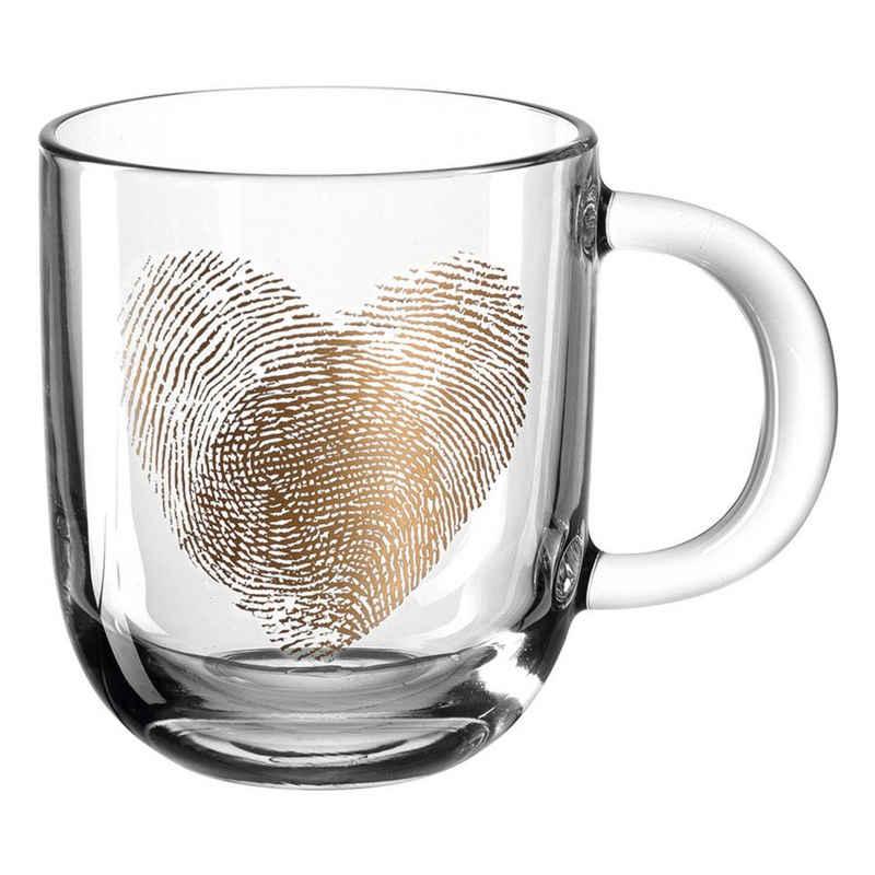 LEONARDO Tasse »EMOZIONE Fingerabdruckherz 300 ml«, Glas