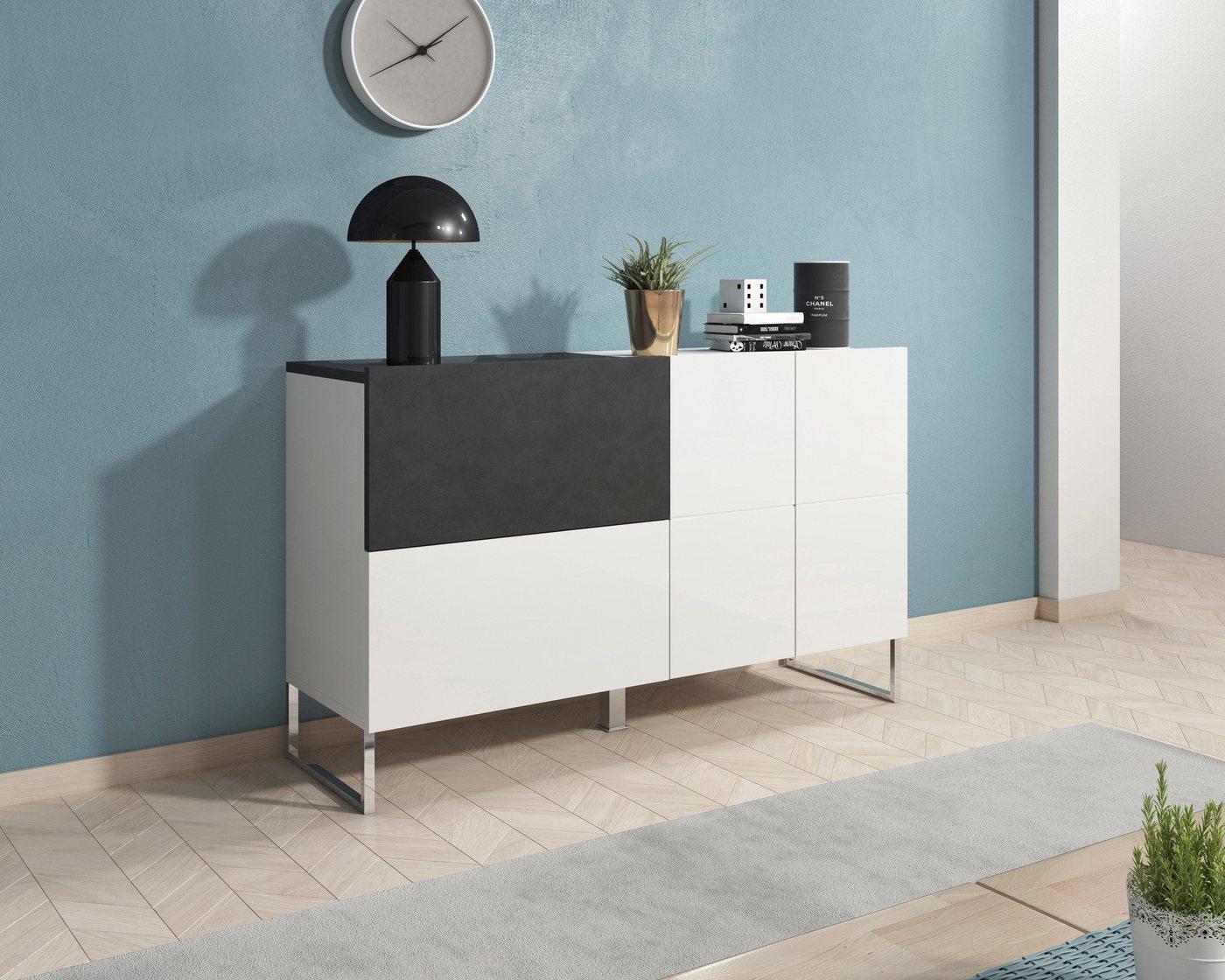 Sideboard Patch  Breite 130 cm weiß | 05900488561138