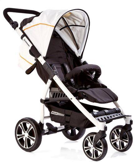 Gesslein Kinder-Buggy »S4 Air+ White, Schwarz/Weiß«, mit schwenkbaren Vorderrädern