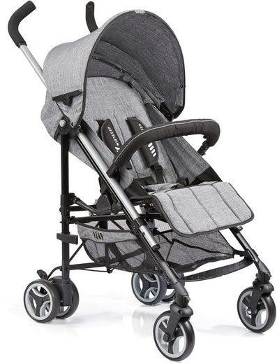 Gesslein Kinder-Buggy »S5 2+4, Grau Meliert«, mit schwenkbaren Vorderrädern