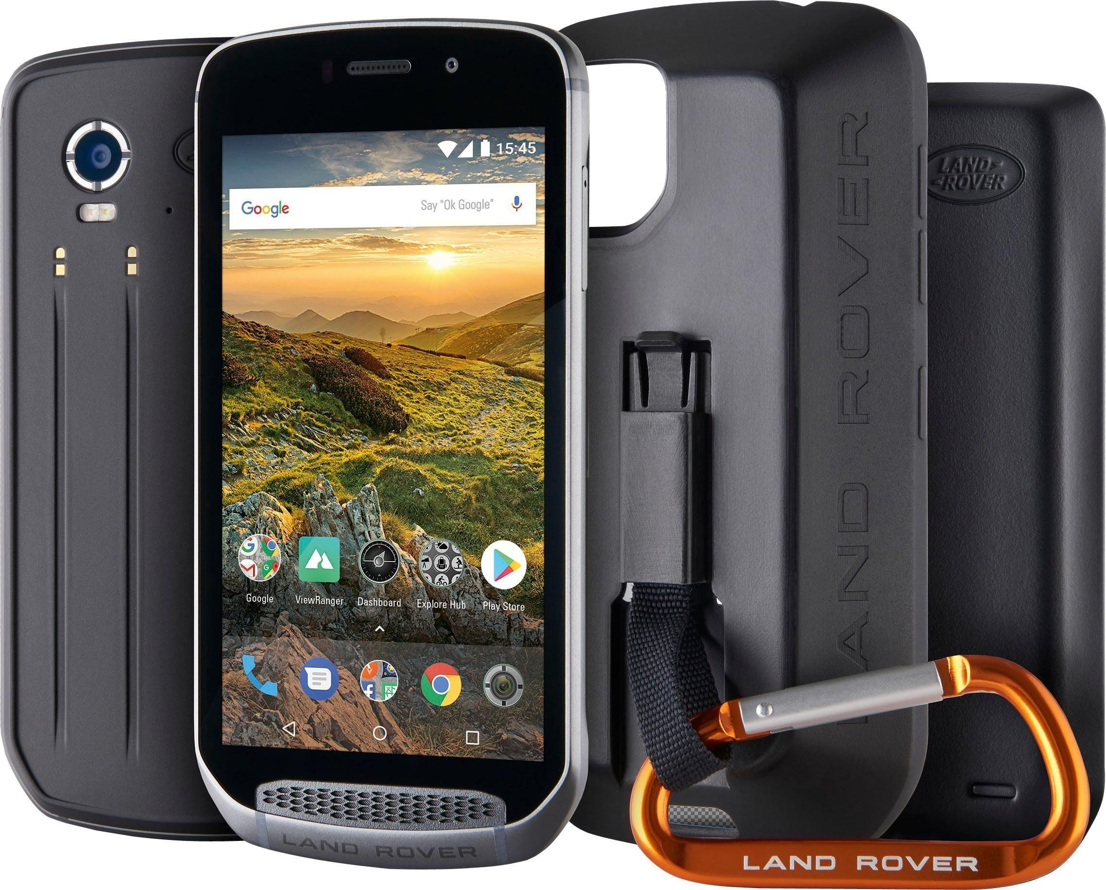 Landrover Explore Outdoor inkl. Adventure Pack (3340mAh Powerbank, GPS Verstärker, Schutzhülle). Smartphone (12,5 cm/5 Zoll, 64 GB Speicherplatz, 16 MP Kamera)