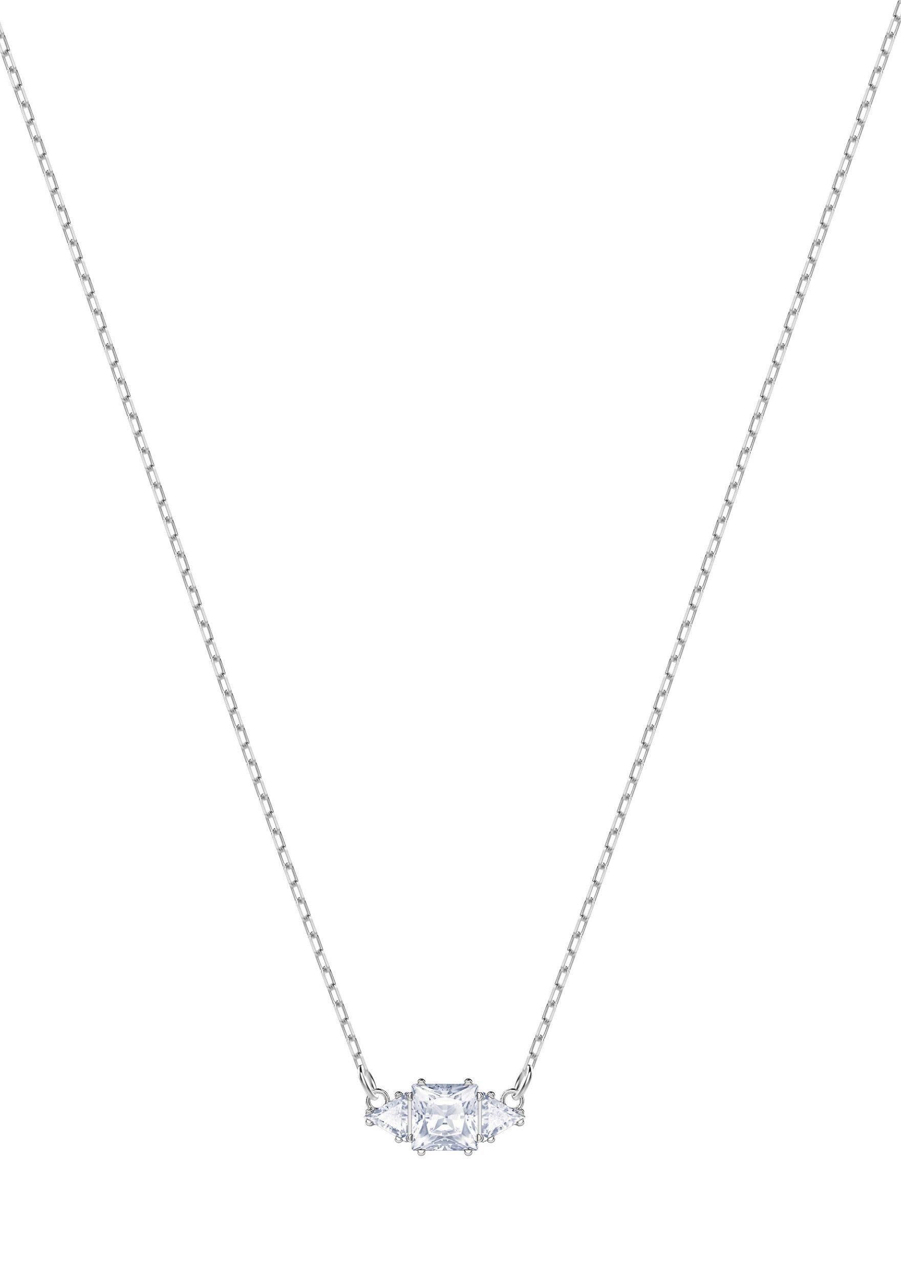 Swarovski Kette mit Anhänger »Attract Halskette, weiss, rhodiniert, 5392924« mit Swarovski® Kristallen