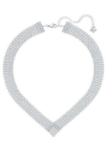 Swarovski Collier »Fit, weiss, palladiniert, 5289715«, mit Swarovski® Kristallen