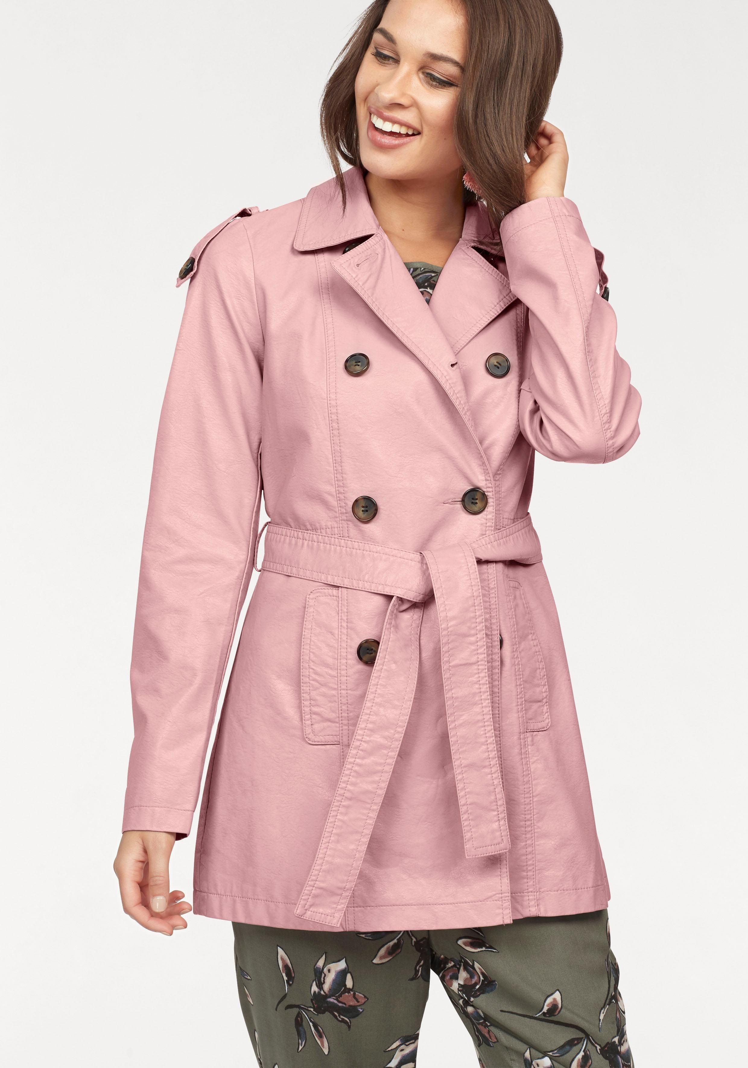 Vero Moda Trenchcoat »CHERRY« aus Lederimitat | Bekleidung > Mäntel > Trenchcoats | Vero Moda