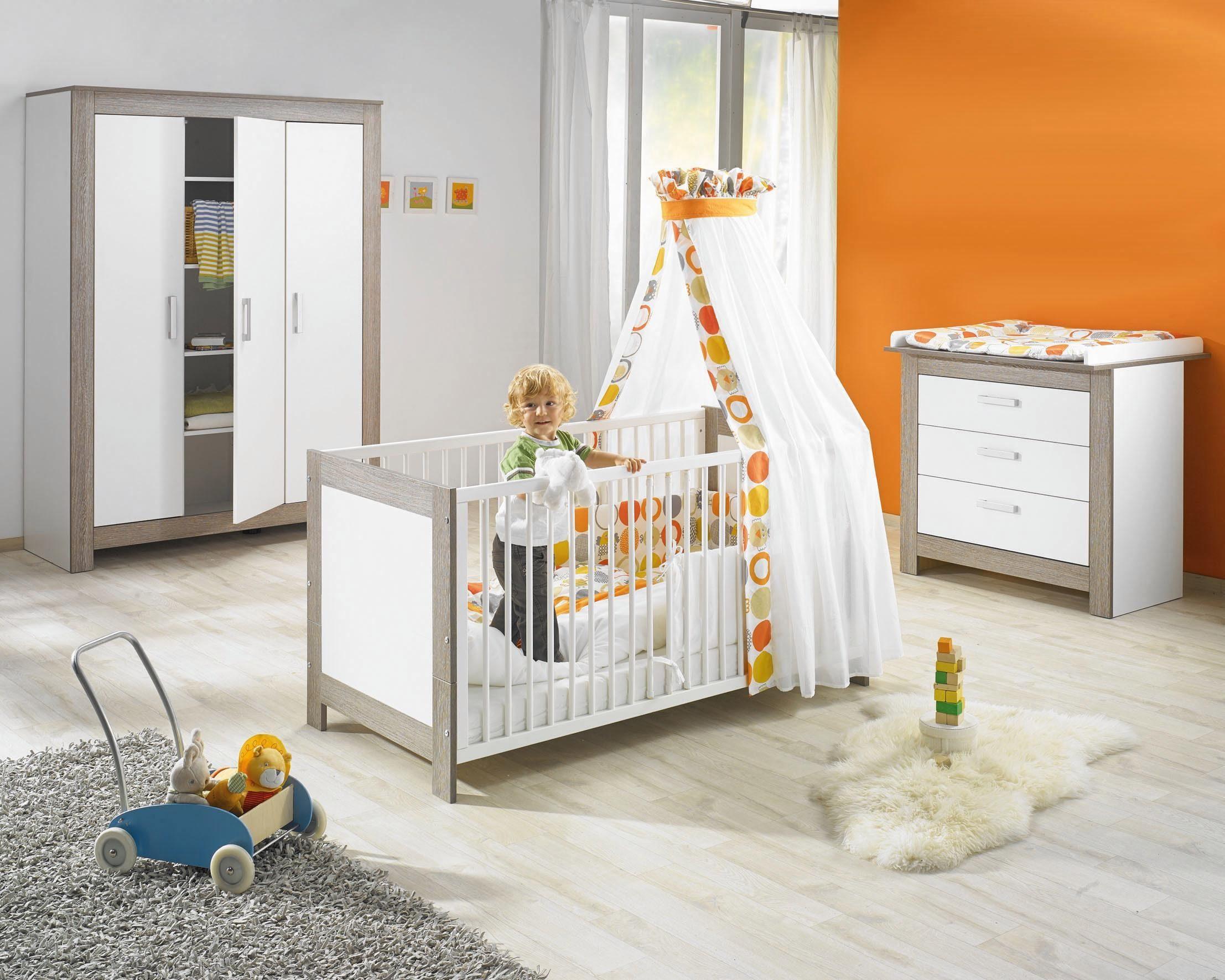 Geuther Babyzimmer Set (3-tlg.) Kinderzimmer, »MARLENE, wenge-lehm weiß«