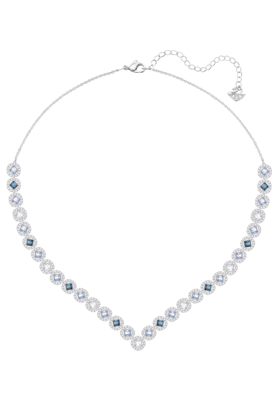 Swarovski Collier »Angelic Square Halskette, groß, mehrfarbig, rhodiniert, 5294621« mit Swarovski® Kristallen