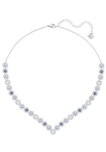 Swarovski Collier »Angelic Square, groß, mehrfarbig, rhodiniert, 5294621« mit Swarovski® Kristallen