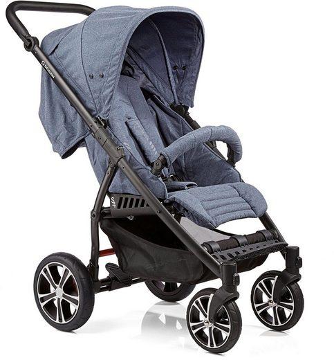 Gesslein Kinder-Buggy »S4 Air+ Black/Black, Blue«, mit schwenkbaren Vorderrädern