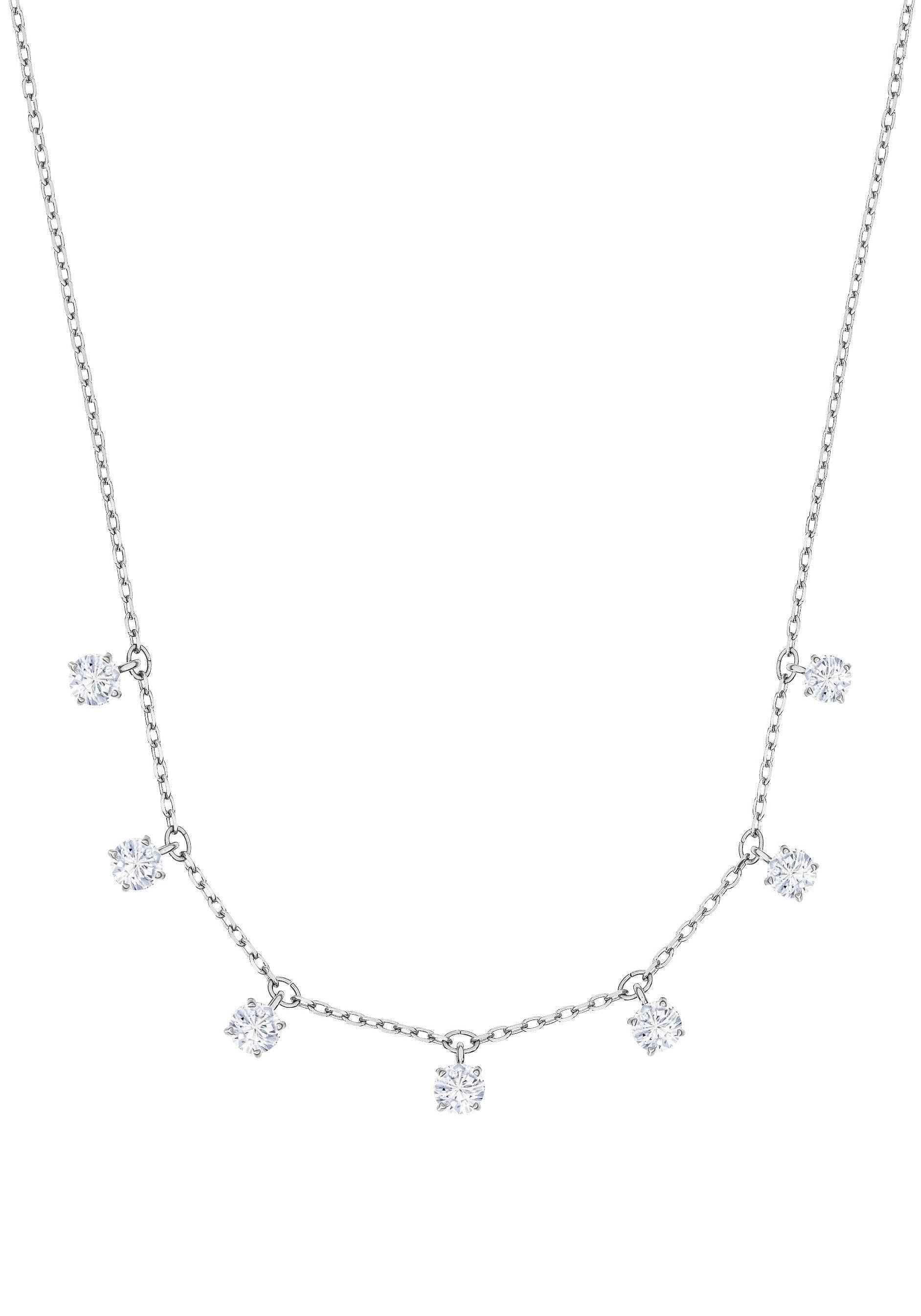 Swarovski Kette mit Anhänger »Attract Halsband, weiss, rhodiniert, 5367966« mit Swarovski® Kristallen