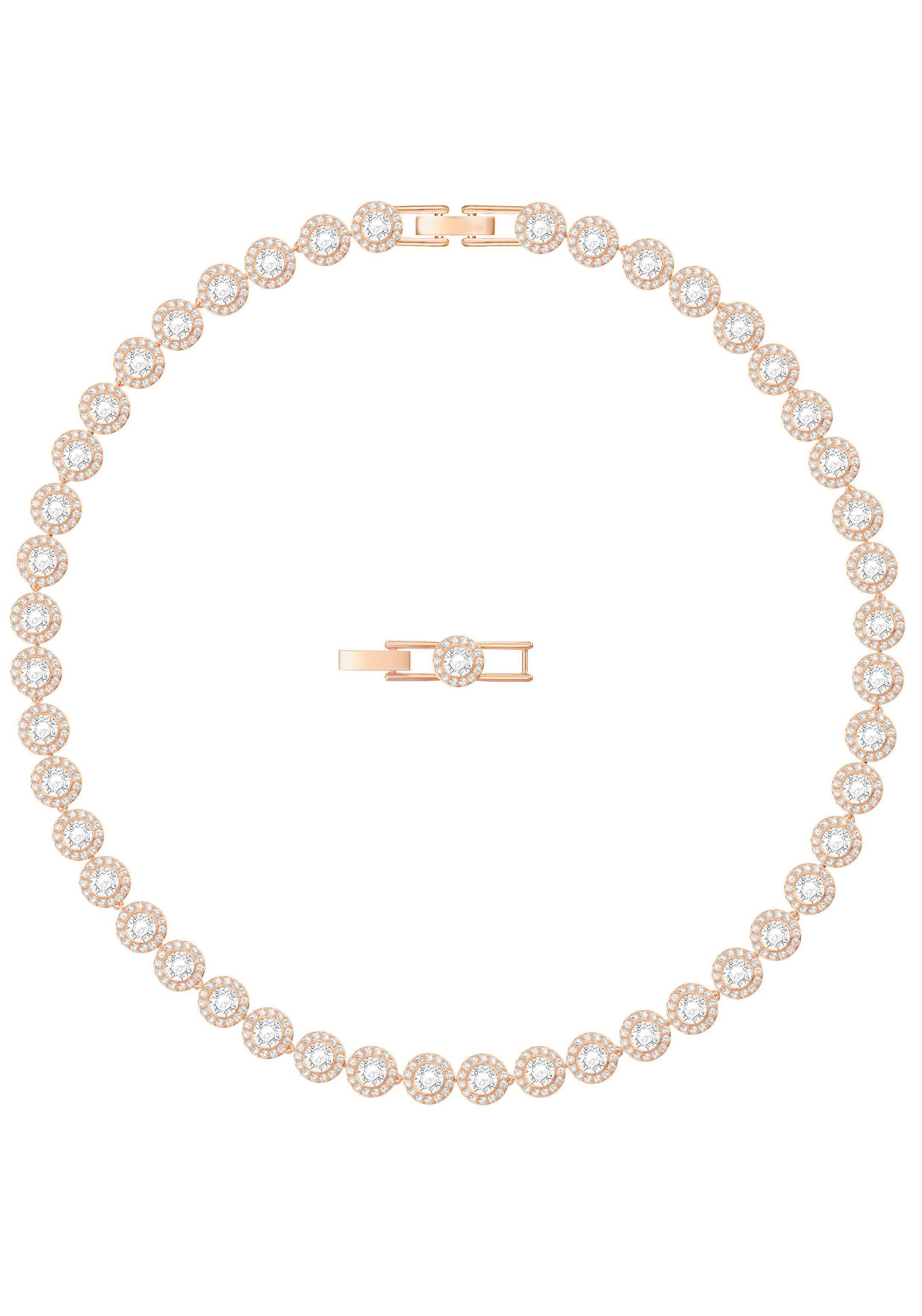 Swarovski Collier »Angelic Halskette, weiss, rosé Vergoldung, 5367845« mit Swarovski® Kristallen
