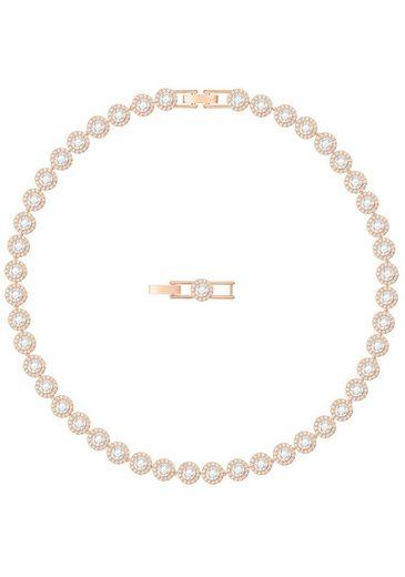 Swarovski Collier »Angelic, weiss, rosé Vergoldung, 5367845« mit Swarovski® Kristallen