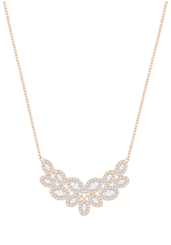 Swarovski Collier »Baron Halskette, weiss, rosé Vergoldung, 5350616« mit Swarovski® Kristallen