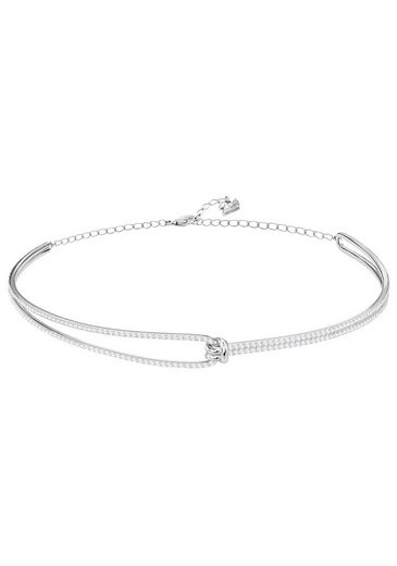 Swarovski Halsreif »Lifelong, weiss, rhodiniert, 5390822« mit Swarovski® Kristallen