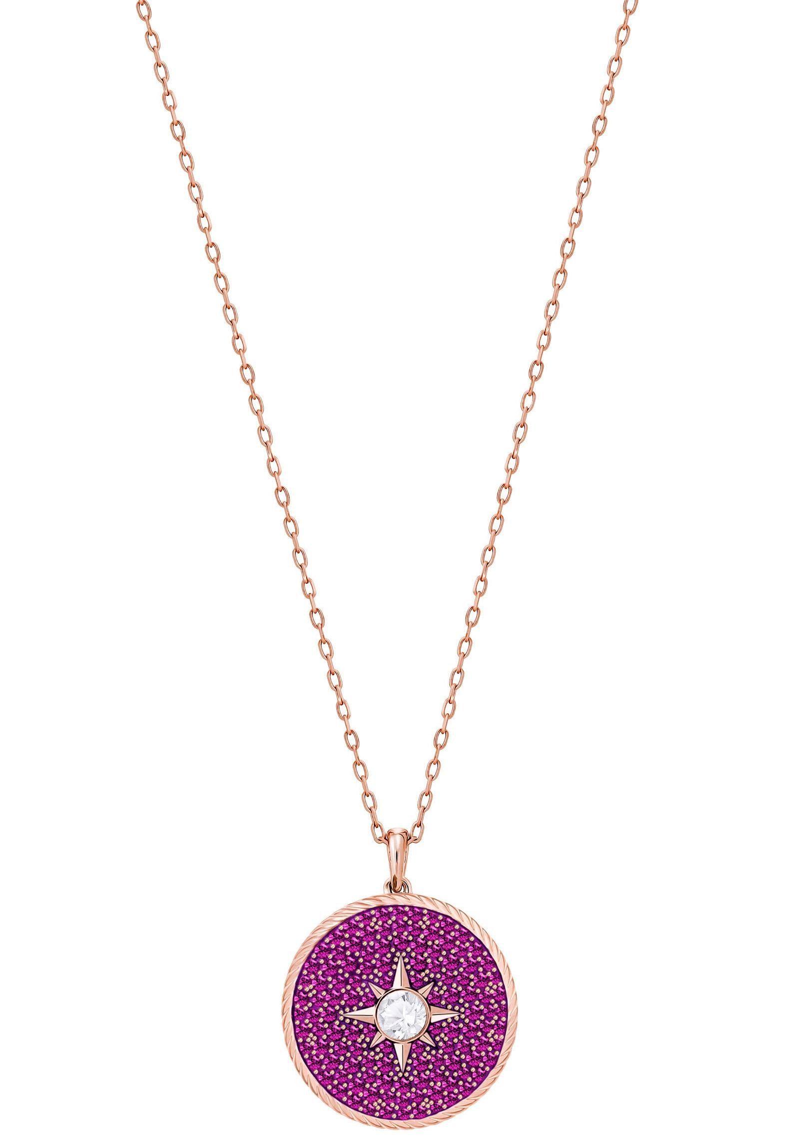 Swarovski Kette mit Anhänger »Locket Anhänger, rosa, rosé Vergoldung, 5397125« mit Swarovski® Kristallen